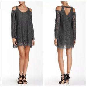 Chaser | Vintage Lace Cold Shoulder Dress | M